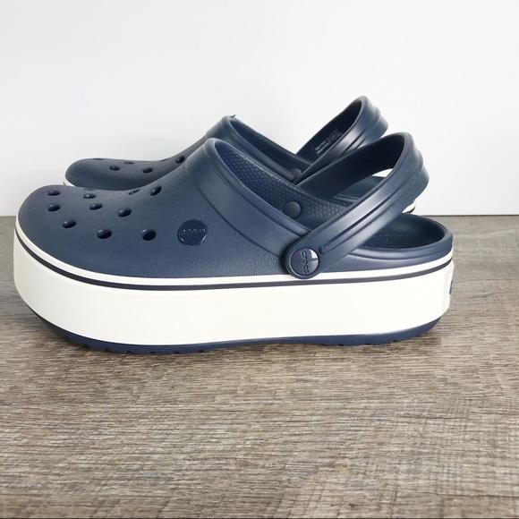 CROCS Shoes | Croc Band Platform Clog